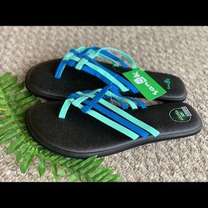 Sanuk Yoga Mat Flip Flip Sandals Size 9